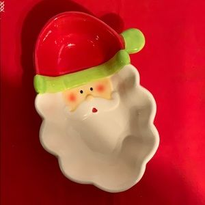 Santa Christmas Dish
